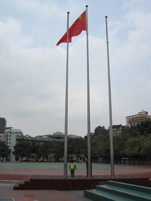 淄博12米不锈钢旗杆安装